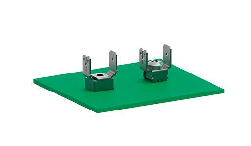 Bornes d'alimentation électrique sur circuit imprimé